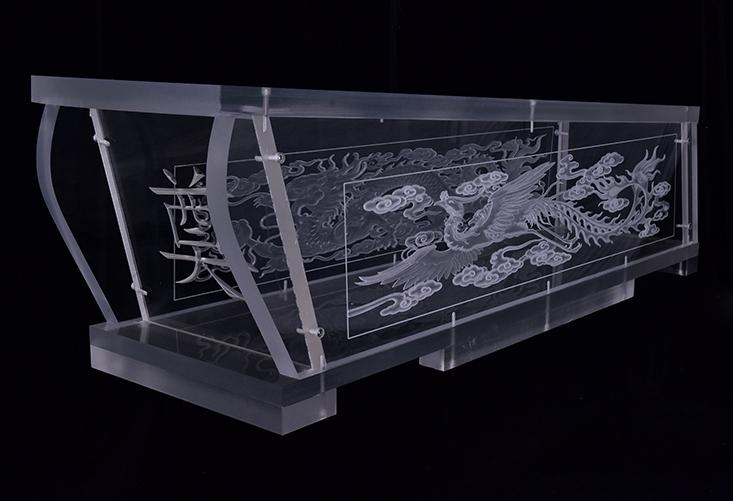吉远雕龙水晶棺材